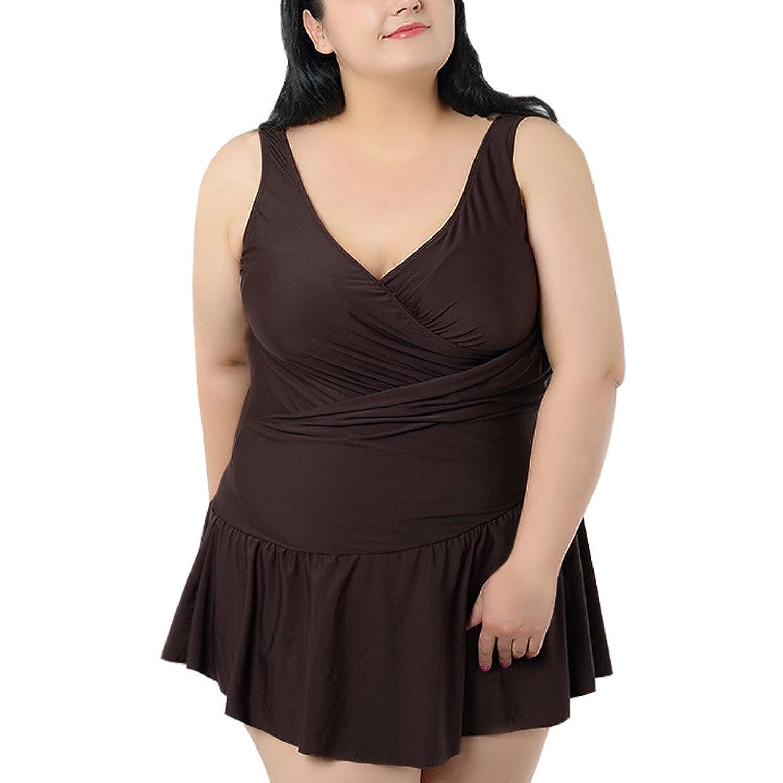 Bhome Damen Bademode Kleid Badeanzug Rock Plus size