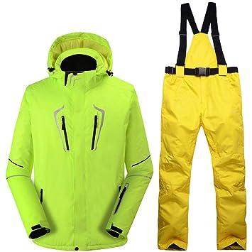 Zjsjacket Chaqueta de Esqui -30 Fluorescente Hombre Verde Traje de ...