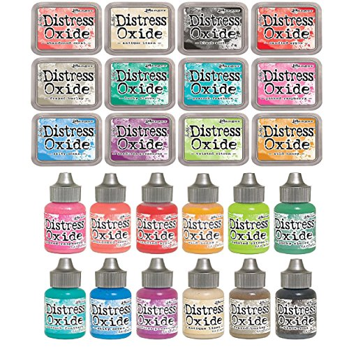 Tim Holtz Distress OXIDE Ink Pads AND Reinkers Set in All 12 Colors Set #2 by Ranger (Summer 2017 Release) by Ranger