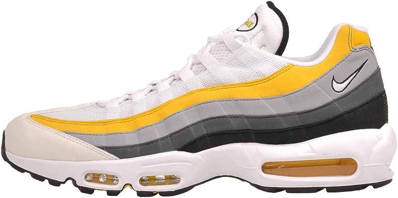 Nike Air MAX 95, Zapatillas de Atletismo para Hombre, Multicolor (White/White/Amarillo/Dark Grey 100), 42 EU: Amazon.es: Zapatos y complementos