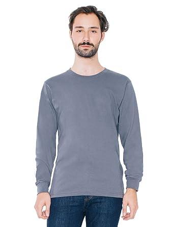 568cfdfa81 Amazon.com  American Apparel Men Fine Jersey Crewneck Long Sleeve T-Shirt   Clothing