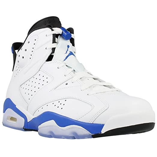 air jordan 6 blue and white
