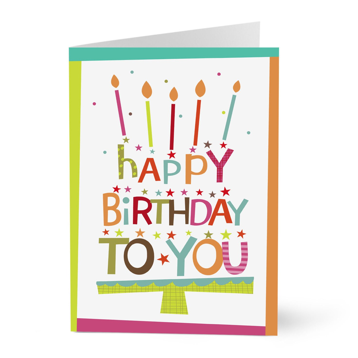 Amazon Hallmark Business Birthday Cards For Employees Or Customers Lettering Cake Pack Of 25 Greeting Office