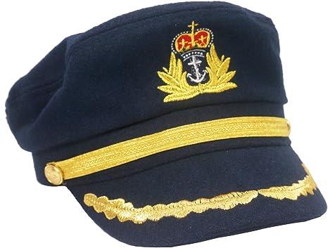 Roffatide Unisexo Gorra de Marino Capitán Sombrero Almirante Yate ...