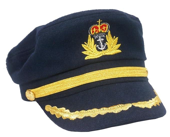 Roffatide Unisexo Gorra de Marino Capitán Sombrero Almirante Yate Snapback  Azul Oscuro  Amazon.es  Ropa y accesorios 94f67516d4a