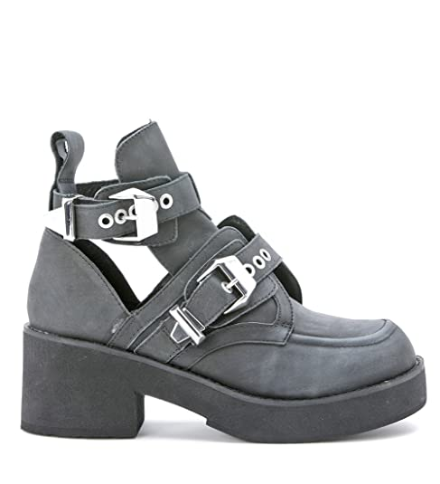 Jeffrey Campbell - Zapatos - DOBLE hebillas BIKER BOTINES-36: Amazon.es: Zapatos y complementos