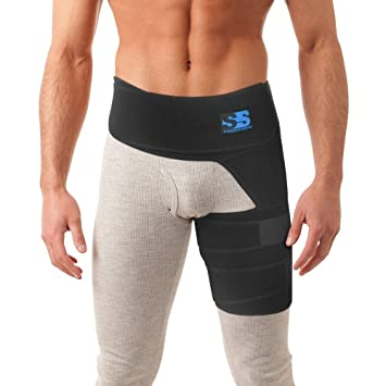 Amazon.com: Best Thigh, Groin, and Hip Brace - Compression Wrap for ...