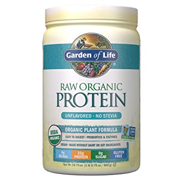 Garden Of Life Raw Organic Protein Unflavored Powder 20 Servings Packaging May Vary Certified
