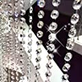 Fushing 10Pcs 1ft Crystal Octagon Beads Strands Hanging Ornament for Tree Garlands Wedding Christmas Decoration