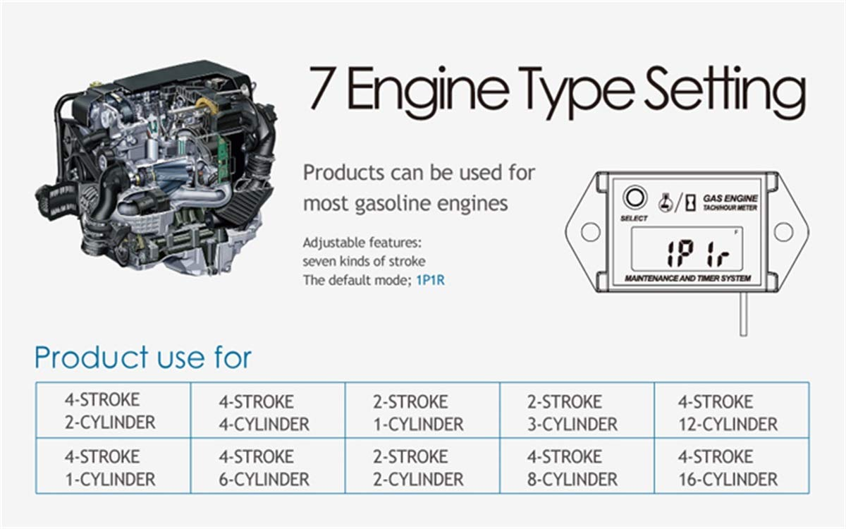 Runleader HM026A Self Powered Engine Digital Maintenance