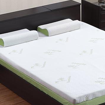 twin mattress topper amazon Amazon.com: LANGRIA 3 Inch Twin Mattress Toppers Memory Foam Bed  twin mattress topper amazon