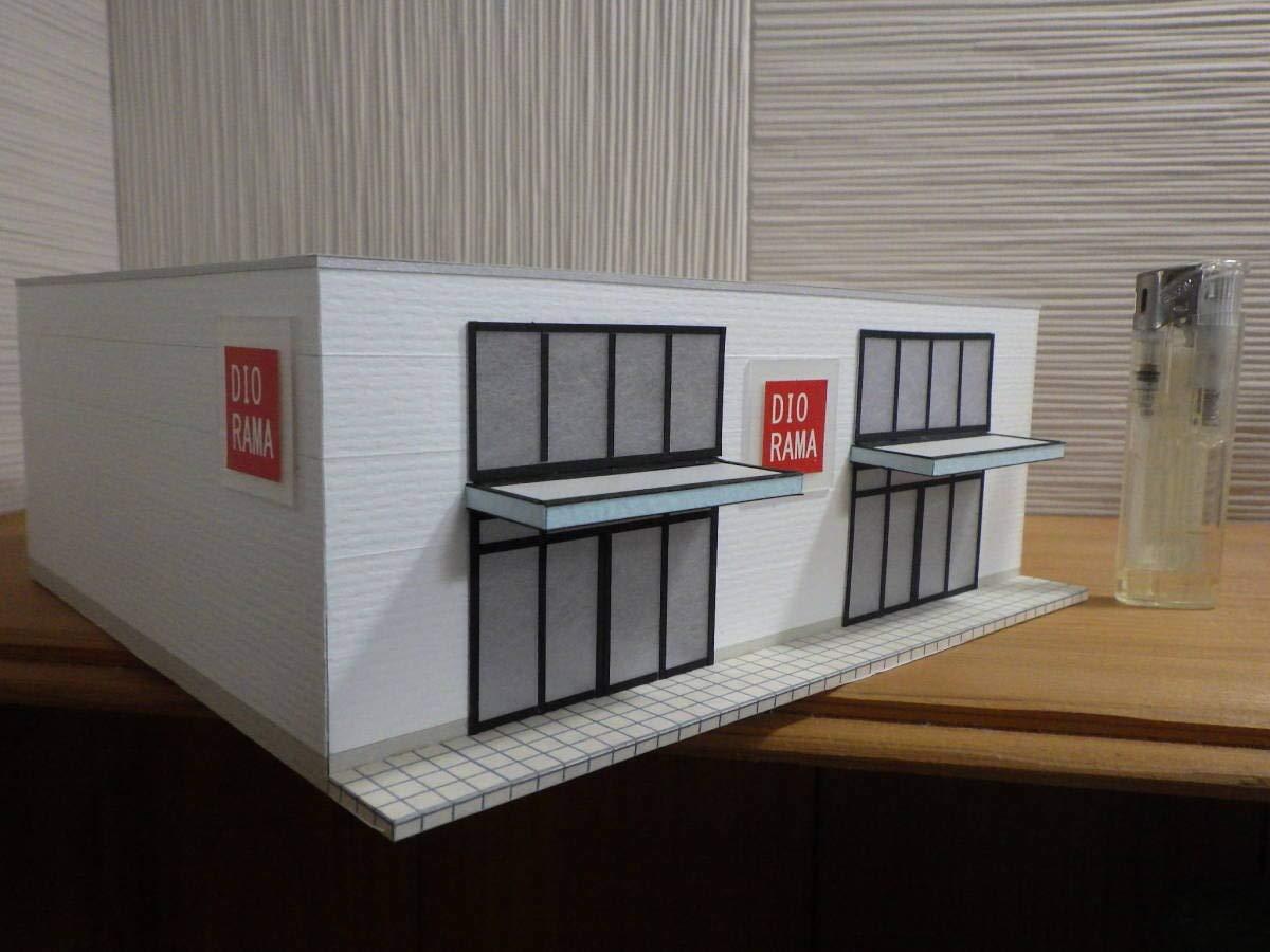 オリジナル店舗建築模型02 スケール1/87 HOゲージ ジオラマ 雑貨 インテリア 鉄道模型 B07RHKC5JQ