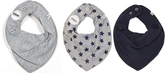 unis Fifi Lot de 2/bavoirs pour b/éb/és triangle bandana gris avec /étoiles