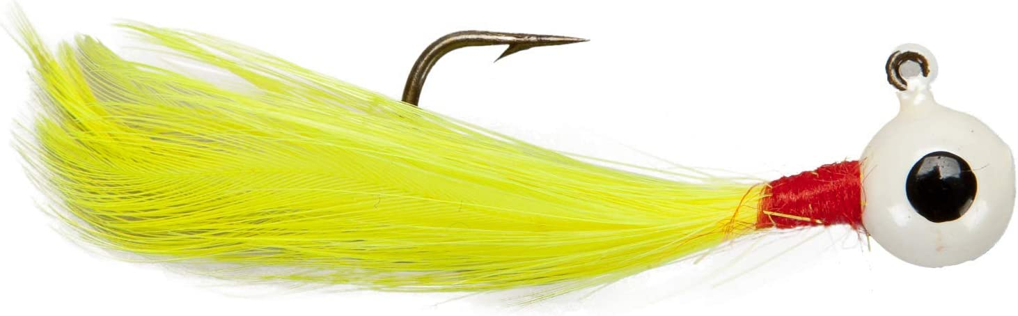 Lindy Little Nipper Jig Hand-Tied Fishing Lure - Great for Crappie, Trout and Walleye, Pack of 2