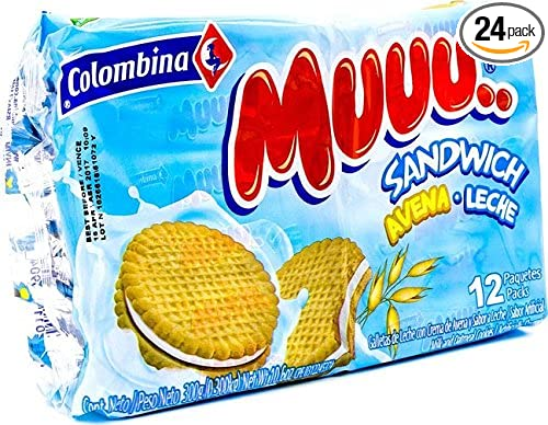 Amazon.com : Colombina Muuu Sandwich Avena Leche, 10.5 Ounce ...