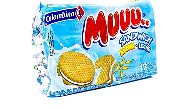 Colombina Muuu Sandwich Avena Leche, 10.5 Ounce (Pack of 24)