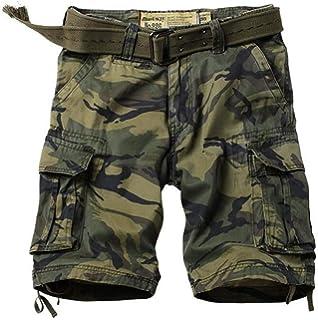 e5e3a407e3592 DHYZZ Hommes 100% Coton Forces Spéciales Desert Camo Shorts Combat  Militaire Multi Poche Cargo Court