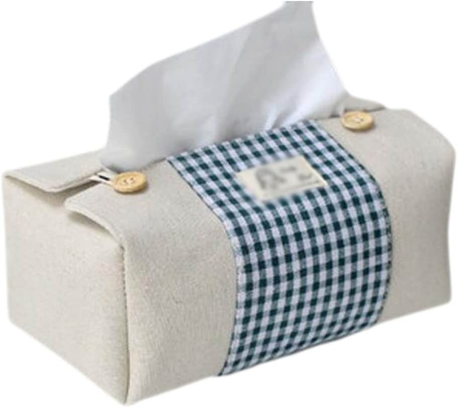 Cotton Linen Tissue Box Hanging Bag Napkin Storage Stand Case Decoration JA