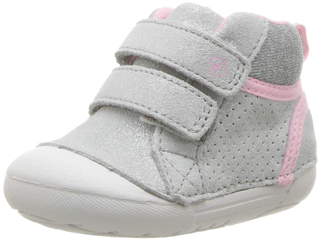 Stride Rite Girls' SM Milo Sneaker, Silver, 4 M US Toddler by Stride Rite