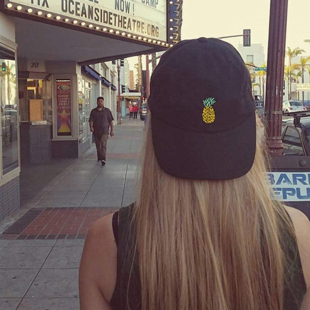 Susanda Casual Fruit Pineapple Embroidery Men Women Baseball Cap Fashion Unisex Outdoor Travel Breathable Snapback Cap Hat , Men Women Baseball Cap