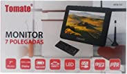 Tv Digital Portatil 7 Polegadas Monitor Mini Com Controle Remoto Usb Sd E Bateria Recarregavel