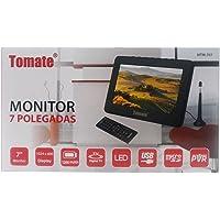 Tv Digital Portatil 7 Polegadas Monitor Mini Com Controle Remoto Usb Sd E Bateria Recarregavel