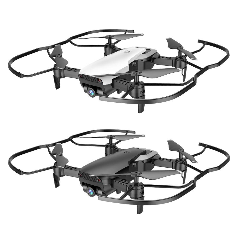 Black Medium Qomomont XS12 Faltbare Drohne mit 2,4 GHz 4CH WiFi FPV Optischer Fluss Dual 1080 P HD Kamera RC Quadcopter Professionelle LiveDrohne (black, Medium)