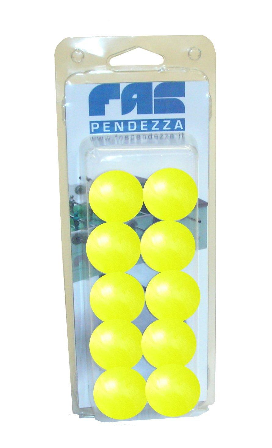 10 palline calcio balilla gialle FAS - GA19GI, Blister (confezione plastica) No name
