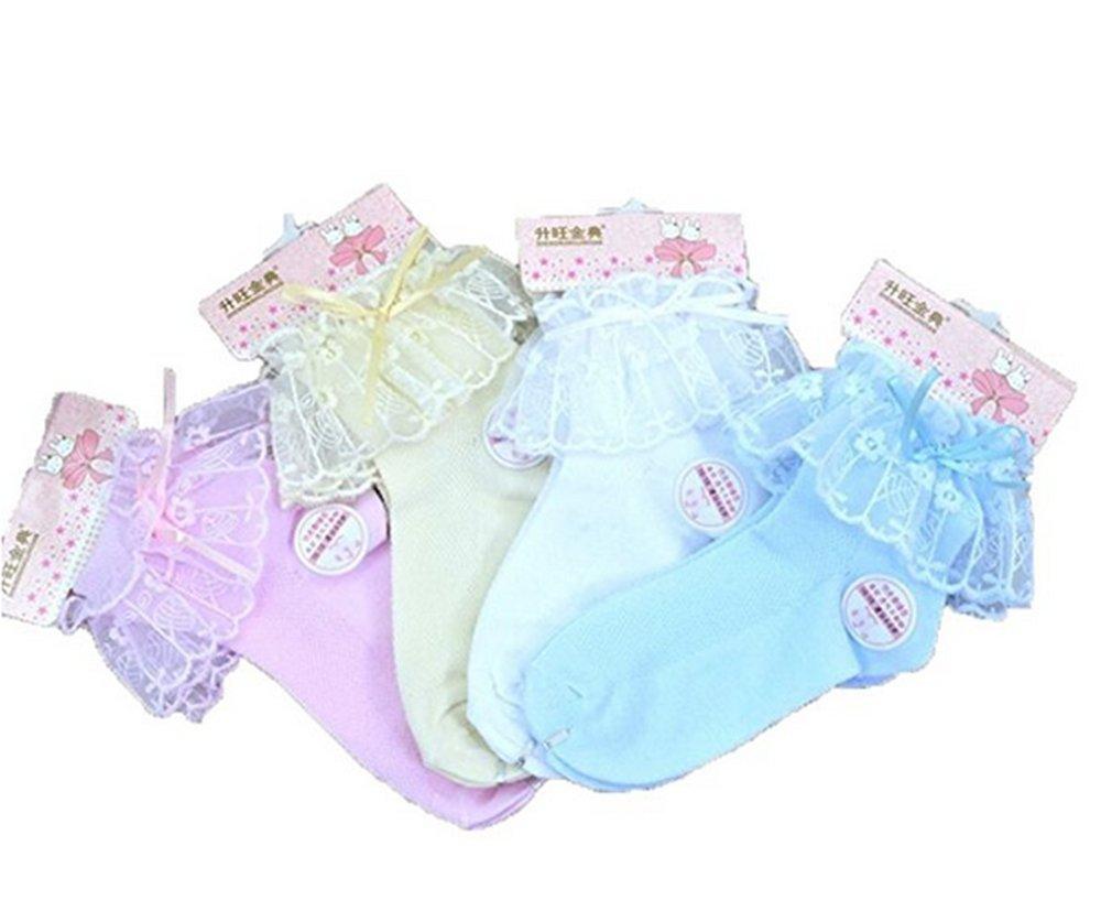 Girls Princess Cotton Lace Ruffles Ankle Socks Thin Mesh Summer (18-20CM(7T-12T))