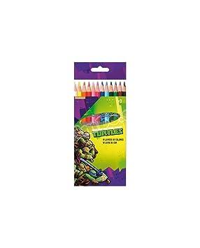 Tortugas Ninja Caja de 12 lapices de Colores: Amazon.es ...