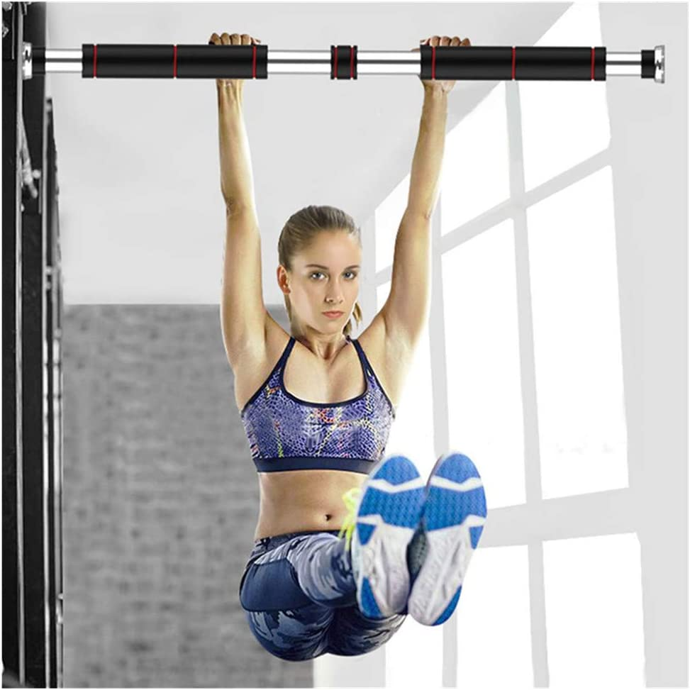 ErYao Doorway Pull Up Bar - Locking Doorway Pullup Bar/Chin up Bar -in Door-Mounts No Screws Pull Up Bar Horizontal Bar Punch-Free Pull-ups Home Fitness Equipment