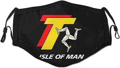 Ha99y Isle Of Man Unisex Wind Und Staubdichte Mundschutz Face Shield Mit Verstellbarem Gummiband Bekleidung