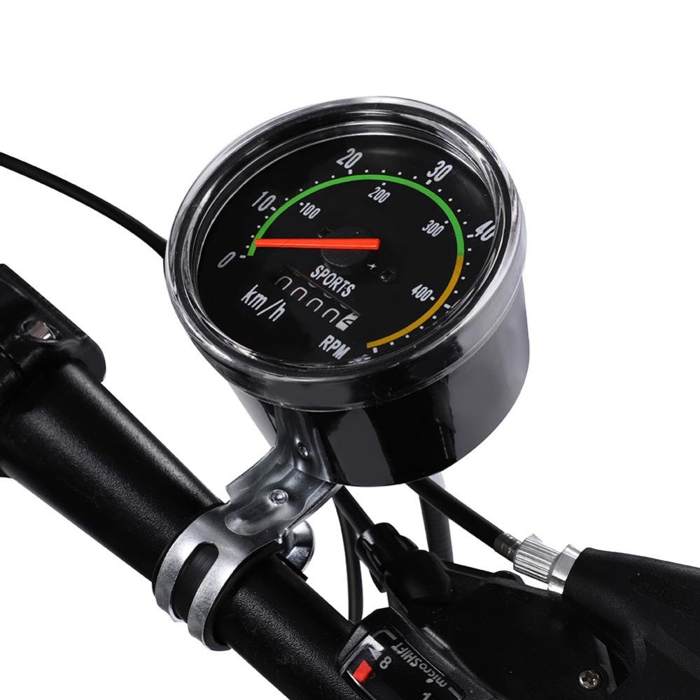 Vbestlife Bike Computer Waterproof Mechanical Bicycle Speedometer Odometer Cycling Stopwatch Cyclocomputer for 26/27.5/28/29 inch Bikes