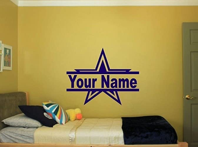 Amazon.com: Dallas Cowboys Star with name for Bedroom Wall kids Art ...