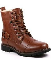 Metrocharm MET525-8 Men's Lace up Cap Toe Military Combat Work Desert Ankle Boots