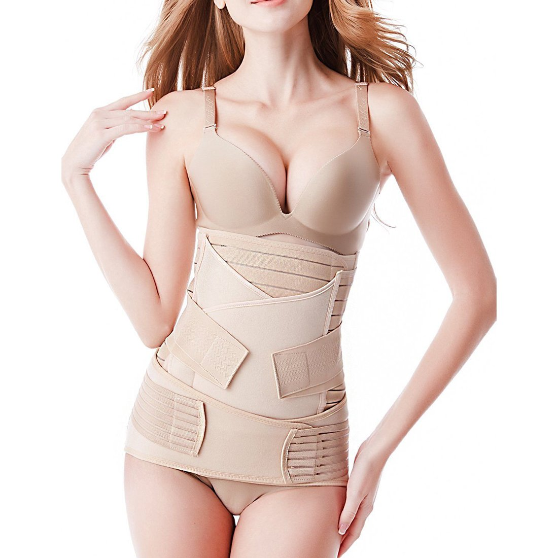 ASBYFR 3 in 1 Postpartum Belt Girdle Post Belly Belt After Birth Belly Band Postpartum Support C-section Recovery Belt for Women All Size Waist Pelvis Postnatal Belt Body Shaper