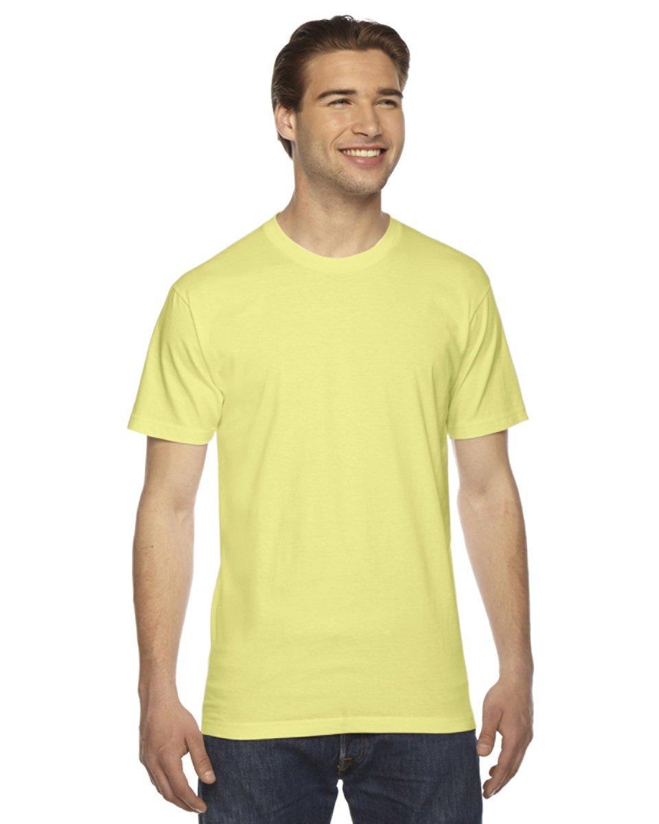 American Apparel Mens Fine Jersey Short-Sleeve T-Shirt (2001) -LEMON -2XL