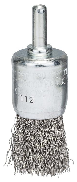 BOSCH Pinselbürste, Edelstahl, gewellter Draht, 0,3 mm, 25 mm, 4500 ...