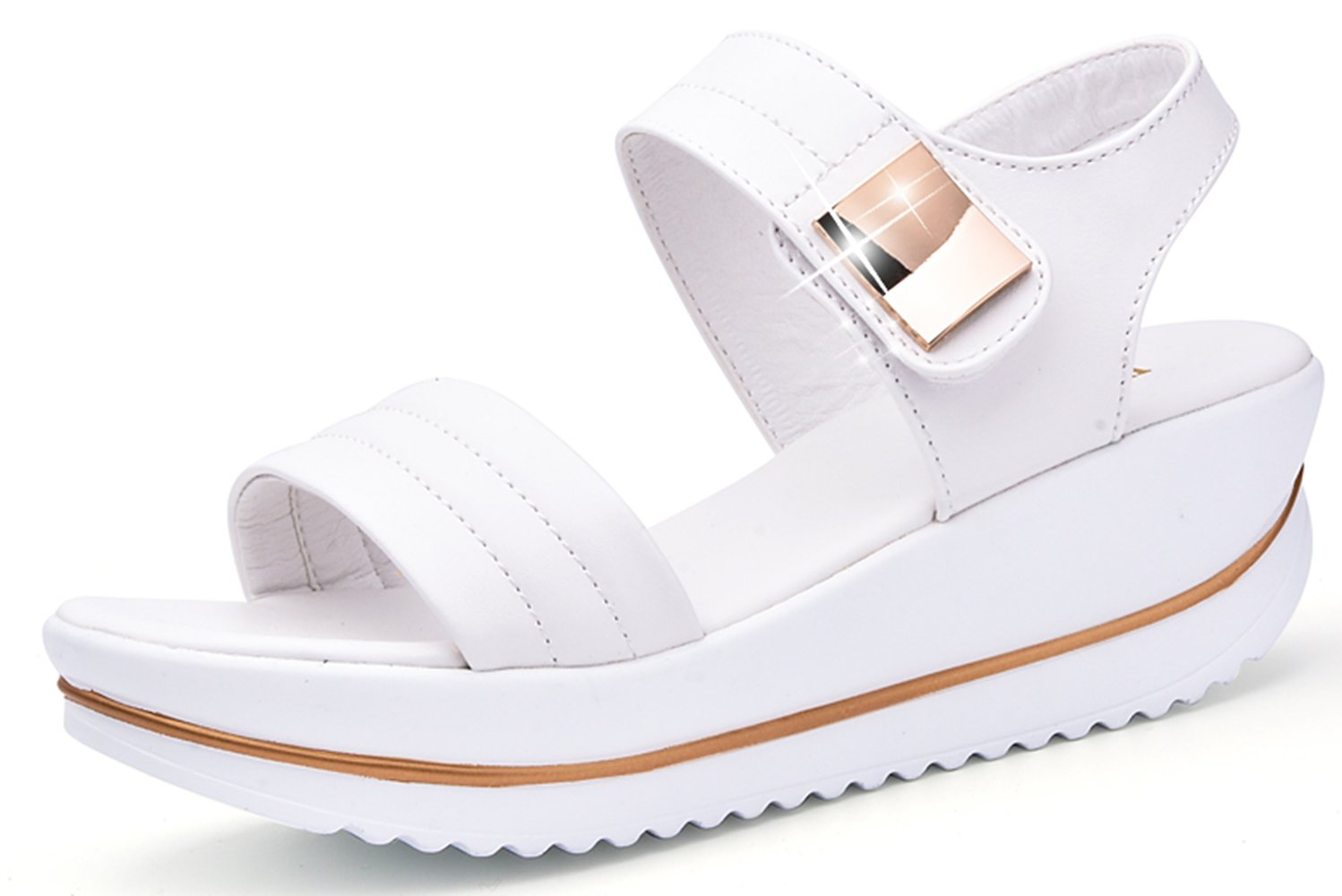 YZHYXS Womens Platform Sandals for 2018 Summer White Shoes Fashion Comfort Ladies Walking Sandal Size 9 (825 White 42)