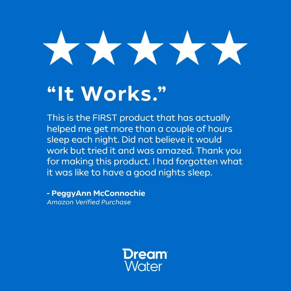 Dream Water Sleep Powder, Best Natural Sleep Aid, Melatonin, GABA, 5-HTP, Snoozeberry - 30 Count, Top Rated - Non-Habit Forming by Dream Water