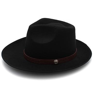 1673bd992 Amazon.com: CORATO Felt Fedora Hat with Wide Brim Jazz Hat Gentleman ...