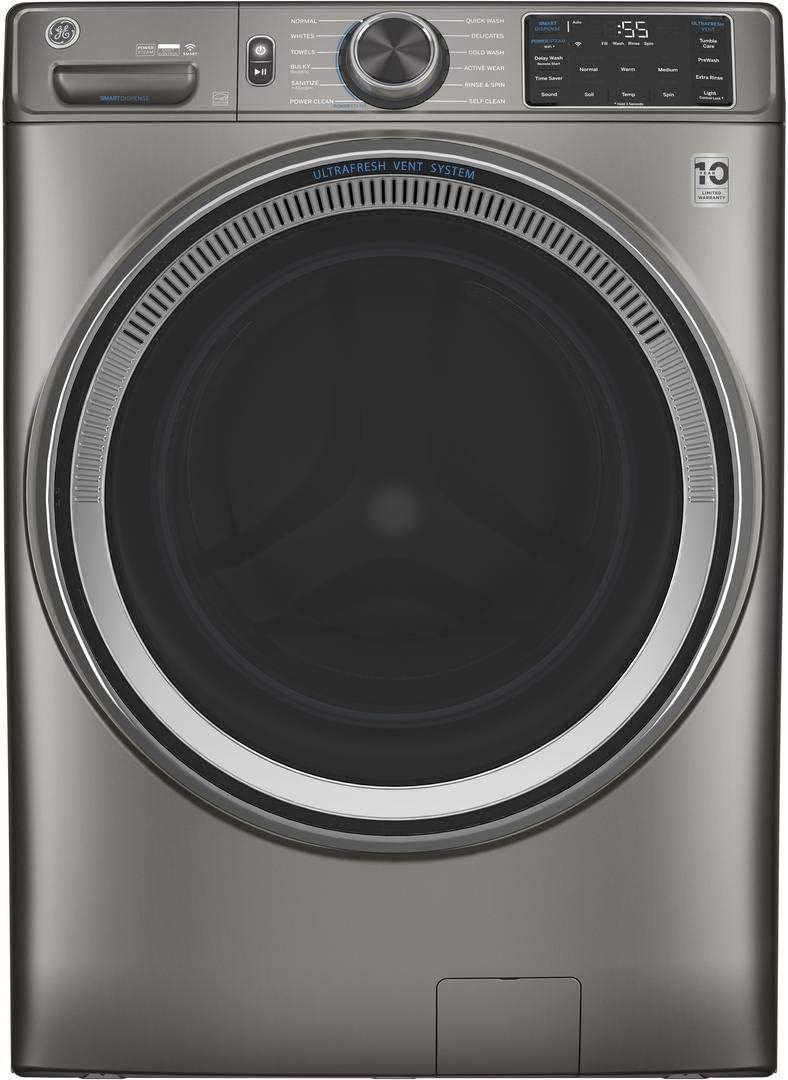 GE GFW650SPNSN 4.8 Cu.Ft. Satin Nickel Electric Smart Washer