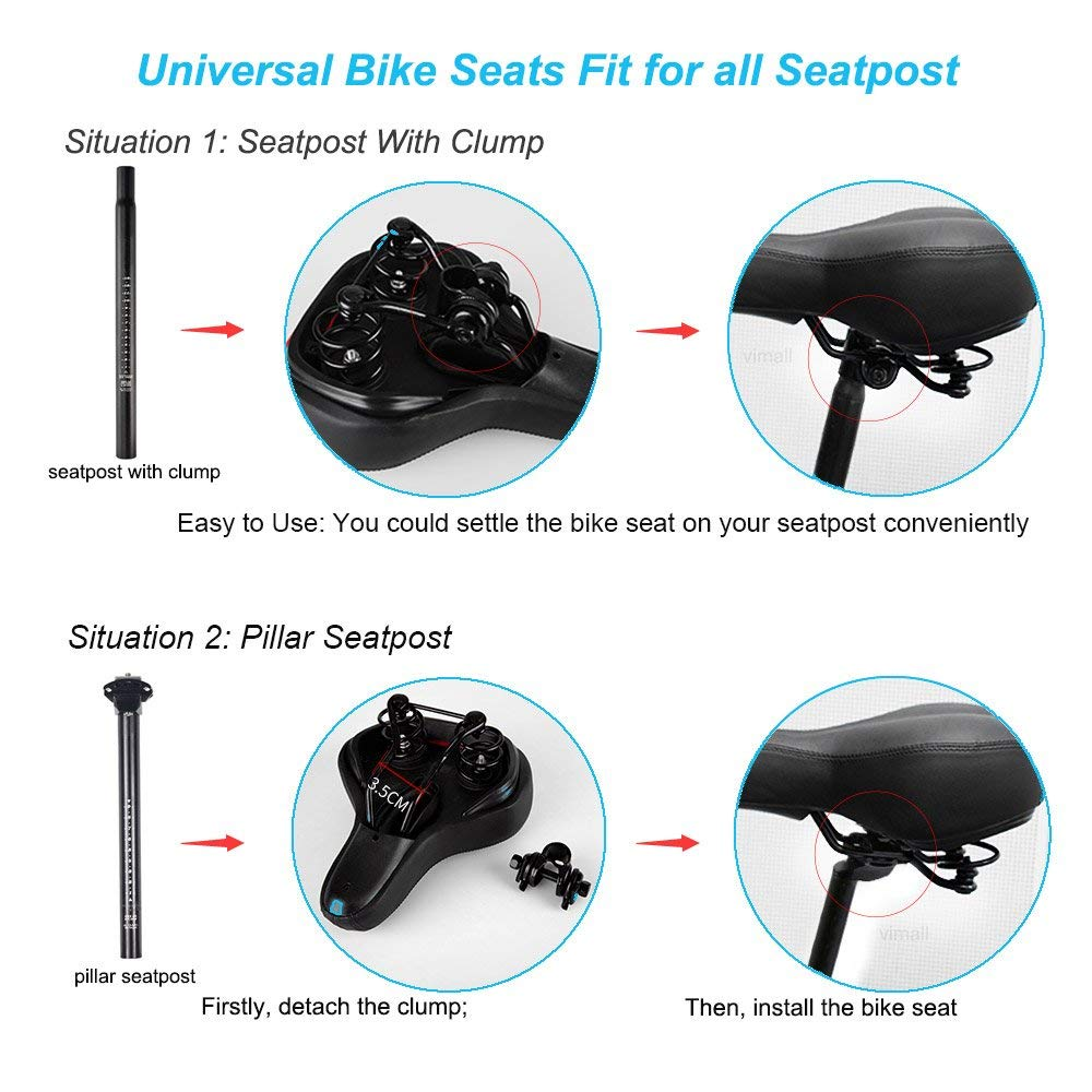 ViMall Bike Saddle Cover//Bike Seat Cover Unisex Comfortable Silicone /& Memory Foam Padded Soft Gel Relief Cycling Bicycle Saddle Seat Cushion Pad Cover for Mountain Biking/&Ride Race