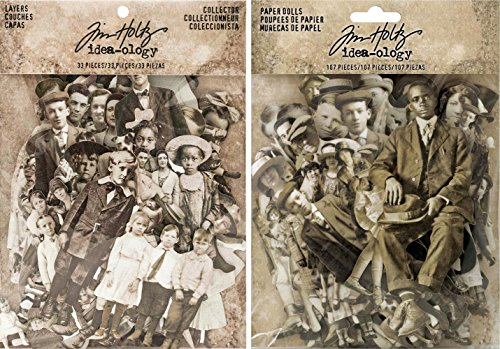 Idea-ology Tim Holtz Paper Dolls - Original and New Cast Members - 2 item bundle by Idea-ology