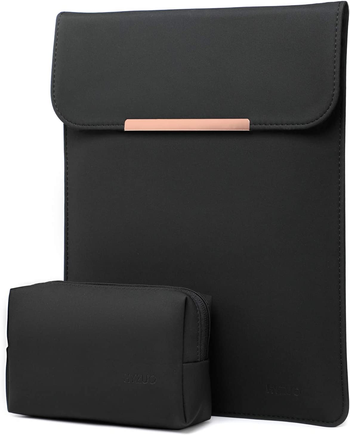 HYZUO 15-16 Inch Laptop Sleeve Case Compatible with 2019 MacBook Pro 16 A2141/ Surface Laptop 3 15 Inch/Dell XPS 15/2012-2015 Old MacBook Pro Retina 15 A1398, Black