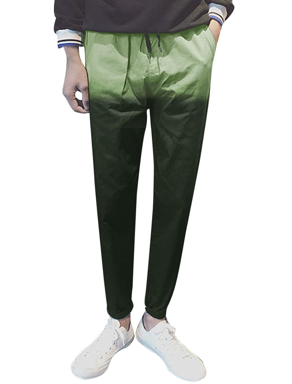YUNY Mens Activewear Pockets Casual Cotton Elastic Waist Shorts