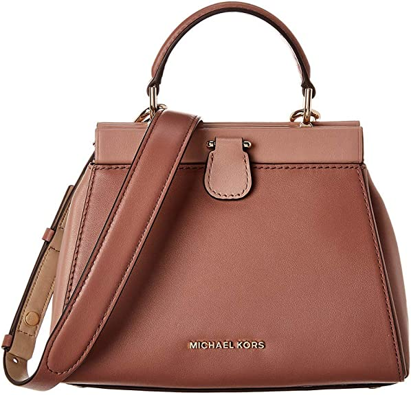 MICHAEL Michael Kors Gramercy Frame Small Top Handle Satchel Dusty Rose Multi One Size