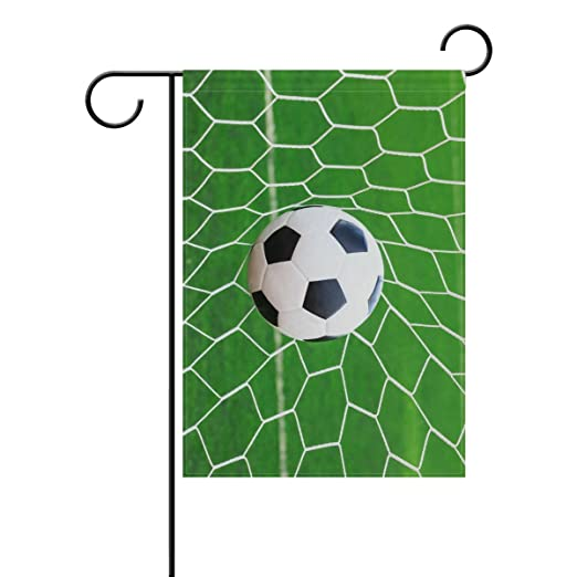 ALAZA deporte balón de fútbol decorativa jardín bandera poliéster ...