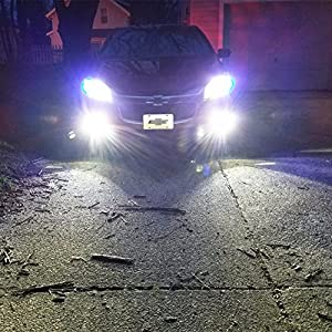 Alla Lighting 2018 Newest Version 2600 Lumens High Power 1919-SMD Extremely Super Bright 6000K White H10 9045 9040 9145 LED Bulbs for Fog Light Lamps Replacement