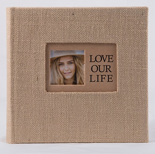 Pinnacle 2up Burlap Life is Beautiful 160 Pocket Book Bound Photo Album